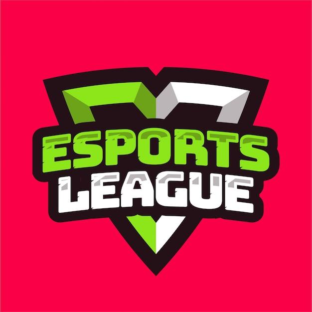 Liga E-sportowa Z Logo Tarczy Premium Wektorów