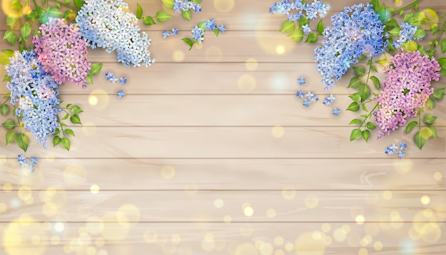 Liliowy na podłoże drewniane