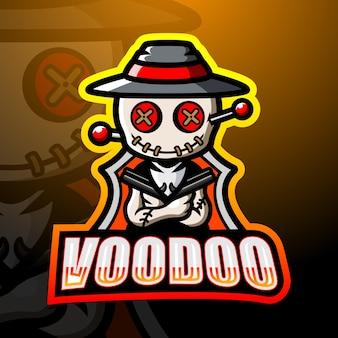 Lillustration esport maskotka voodoo