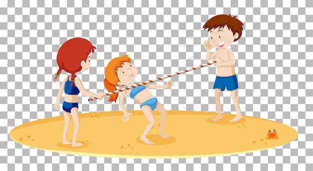 Limbo tańczy na plaży