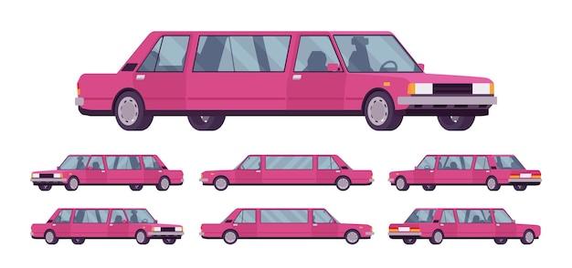 Limuzyna duży, luksusowy zestaw samochodowy