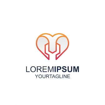 Line art love tool niesamowite logo inspiracji