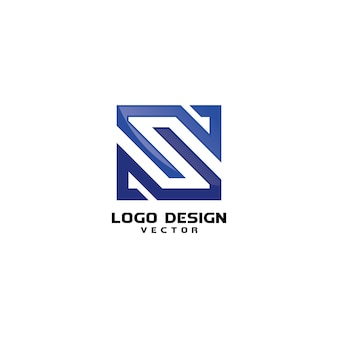 Linear s logo design vector