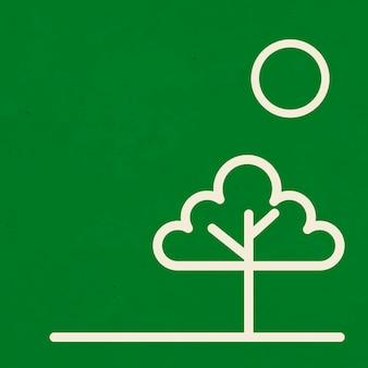 Linia drzewa zielone tło