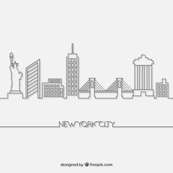 Linia horyzontu nowy york miasto