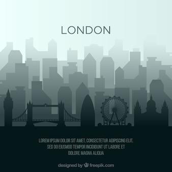 Linia horyzontu sylwetka london miasto