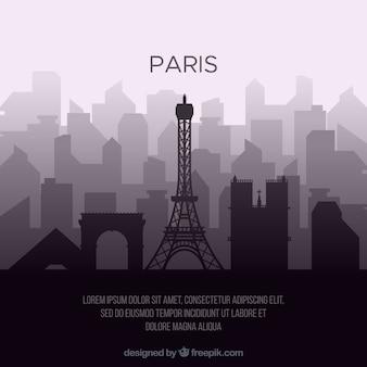 Linia horyzontu sylwetka paris miasto