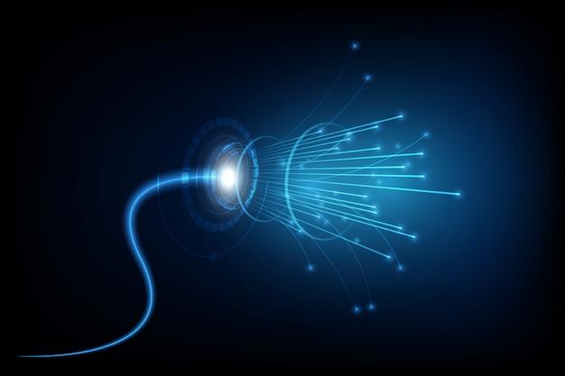 Linia połączenia na tle sieci koncepcji telekomunikacji