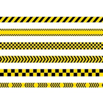 Linia policyjna wektor ikona ilustracja projektu szablon