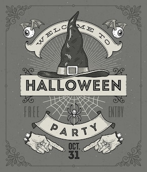 Linia sztuki ilustracji na halloween
