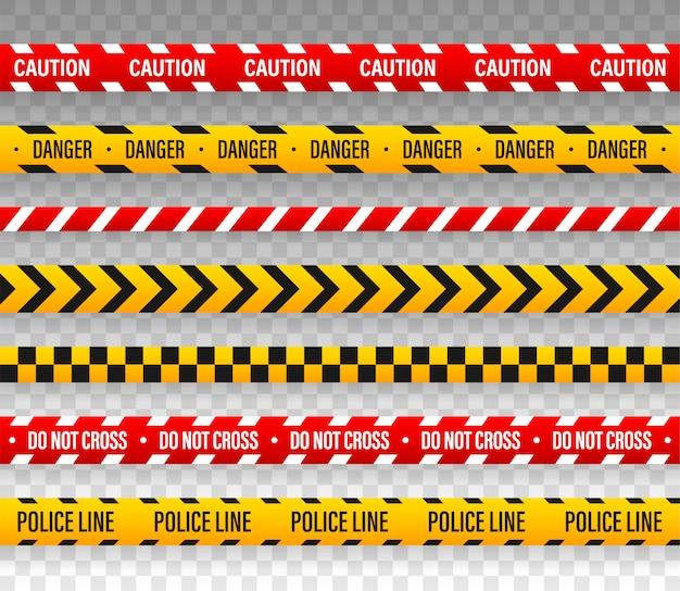 Linia vector police nie krzyżuje się z taśmą