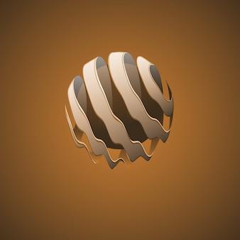 Linie abstrakcyjne kuli spiralnej