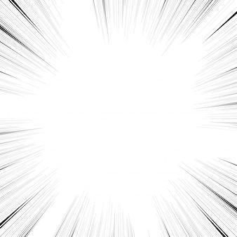 Linie akcji komiksu. linie prędkości mangframe
