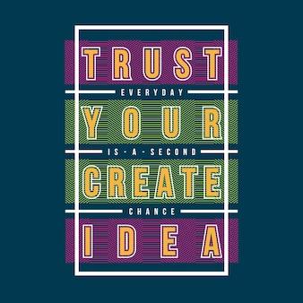 Linie graficzne abstrakcyjny slogan do odzieży trójnikowej