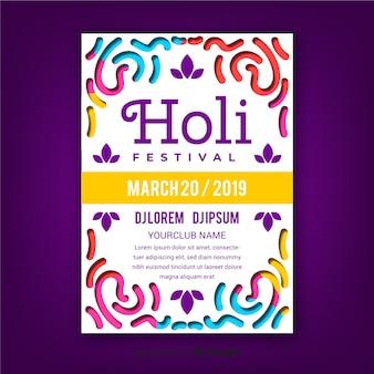 Linie holi festiwal party plakat