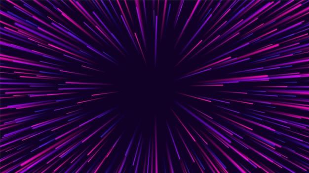Linie promieniowe. tło efektu wybuchu