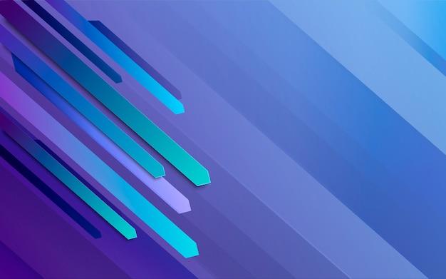 Linie proste streszczenie tło wektor. niebieskie tło ruchu