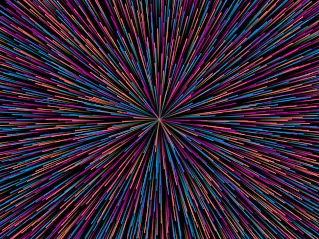 Linie składające się ze świecącego tła, abstrakcyjne tło