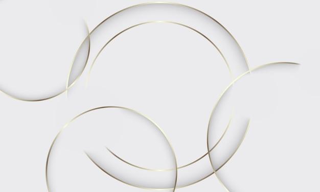 Linie złote koło na szarym tle. nowy sposób projektowania.