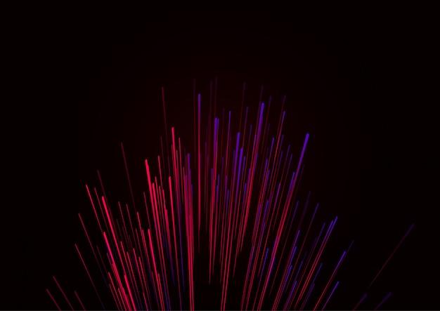 Linie złożone ze świecących tła