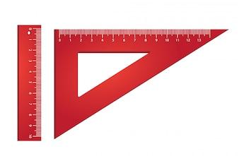 Linijka i trójkąt. Pomiar, narzędzia, geometria.