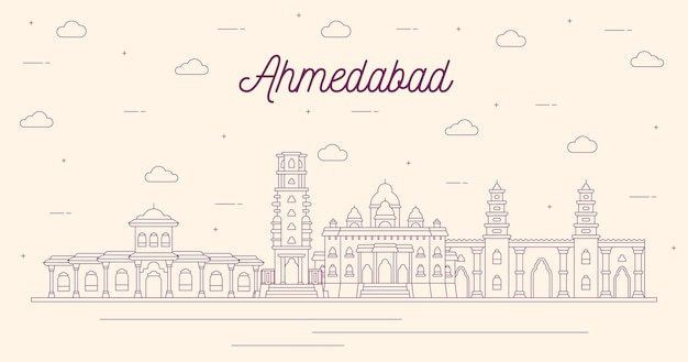 Liniowa konstrukcja ahmedabad skyline