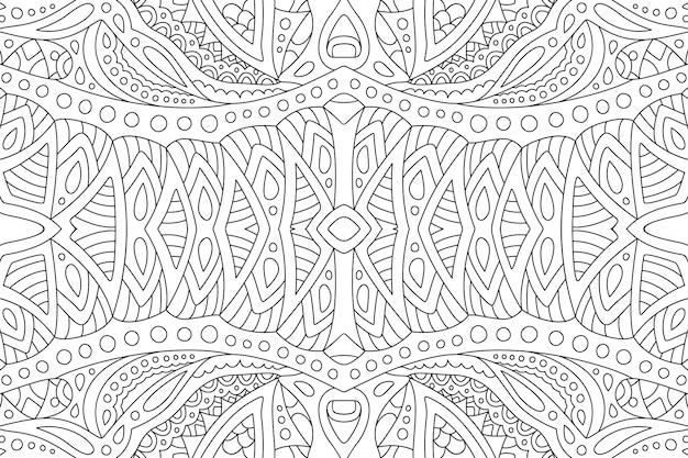 Liniowa sztuka abstrakcyjna dla dorosłych kolorowanka