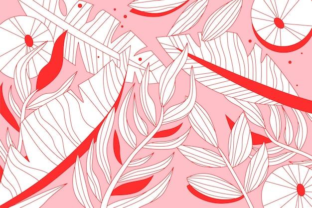 Liniowe liście tropikalne