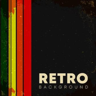 Liniowe tło z retro grunge tekstur i vintage kolorowe paski. ilustracji wektorowych