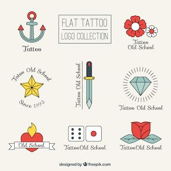 Liniowy paczka tatuaże