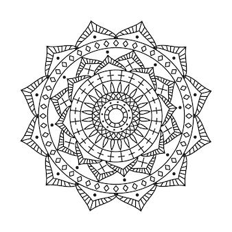 Liniowy projekt indyjskiej wektor mandali