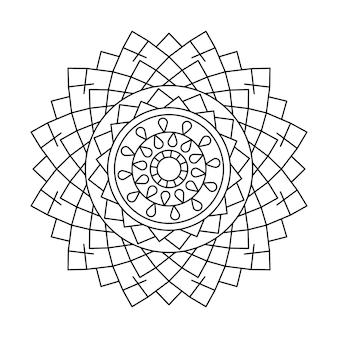 Liniowy projekt mandali wektorowej