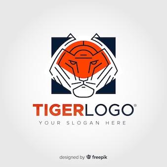 Liniowy tygrys logo