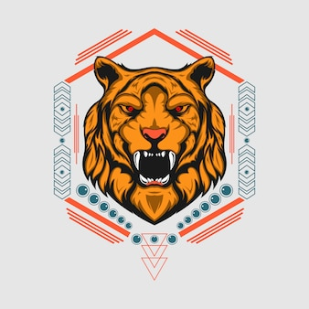 Lion scared geometry