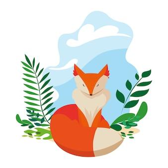 Lis ssak szczęśliwy jesień sezon płaski