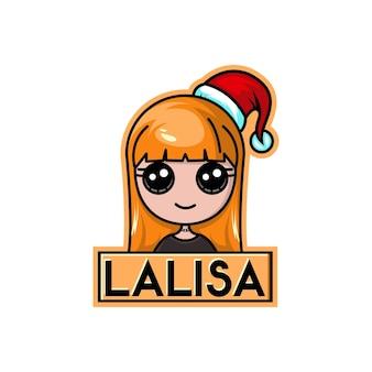 Lisa blackpink świąteczne słodkie logo postaci