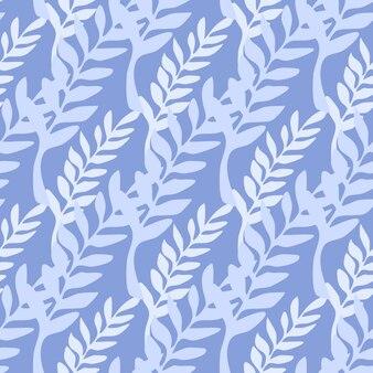 Liść gałąź streszczenie tło. niebieskie gałęzie wzór. ilustracja wektorowa na niebieskim tle do okładek tekstylnych lub książek, tapet, projektowania, grafiki, owijania