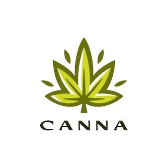 Liść konopi logo wektor ikona ilustracja