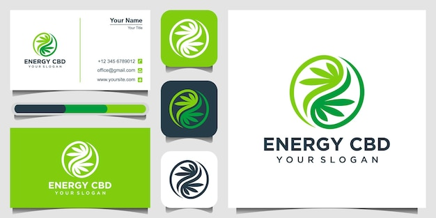 Liść konopi wektor logo ikona szablon dla cbd konopie marihuana medyczny przemysł farmaceutyczny