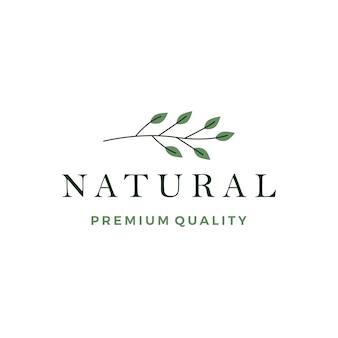 Liść liści wieniec logo wektor ikona elementu