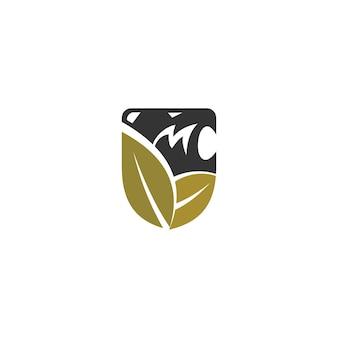 Liść lwa tarcza szablon ilustracja godło maskotka izolowana