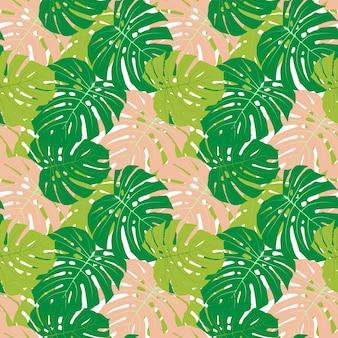 Liść palmowy bezszwowy wzór tła ilustracja wektorowa