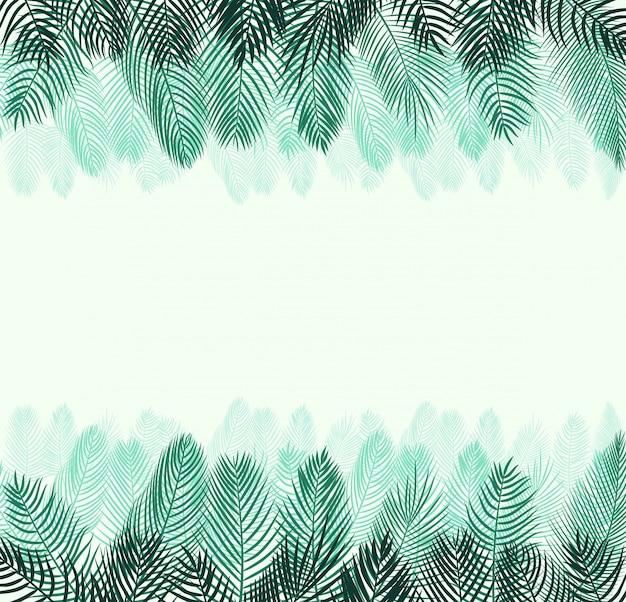 Liść palmowy tła wektorowa ilustracja