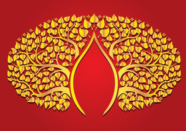 Liść poo w stylu tajskim budda