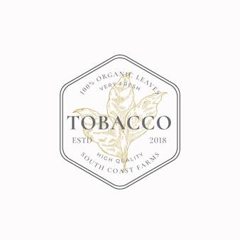 Liść tytoniu abstrakcyjny symbol znaku lub szablon logo