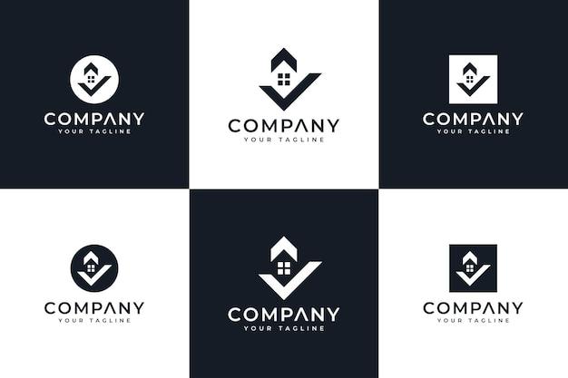 Liść w sześciokątnym kreatywnym projekcie logo i szablonie wizytówki. wektor premium