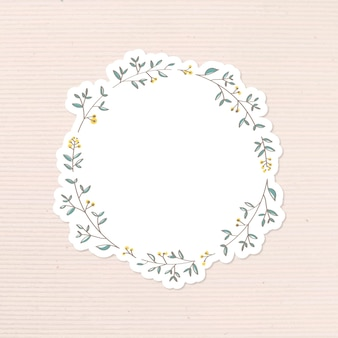 Liściaste doodle dziennik naklejki wektor element projektu