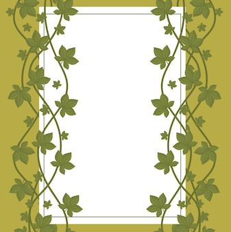 Liście charakter organicznej dekoracji etykiety białe tło liści