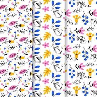 Liście i kwiatowy wzór szablonu