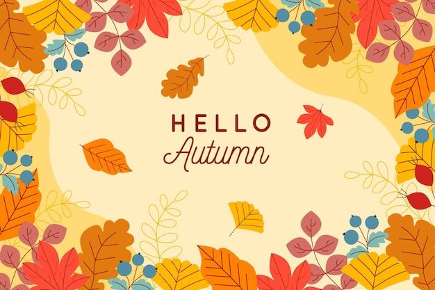 Liście jesienią w tle